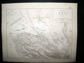 Battle of Novi, Italy: 1848 Antique Battle Plan. Johnston